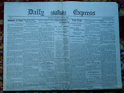Daily Express No.1 Issue - April 24, 1900.
