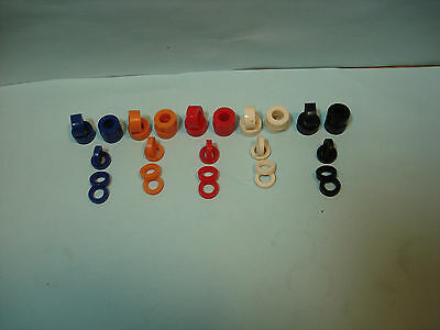 20 Pair Silicone Colored Tire Lot #2 Fits Front & Rear Of Afx & Auto World Hubs