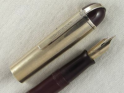 VINTAGE 1940s EVERSHARP SKYLINE FOUNTAIN PEN ~ GOLD FILLED CAP ~ RESTORED!