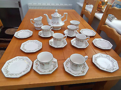 Complete Tea Set Teapot Cups Saucers Plates Etc Eternal Beau Johnson Brothers