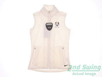 New Womens Nike 2016 Ryder Cup Shield Vest Medium M White MSRP $78