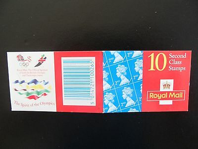 Gb.1996 10X 2Nd Class  R/m Stamp Barcode Booklet.hc17.the Spirit Of The Olympics