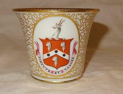 Early 19th Century Regency Chamberlains Worcester Armorial / Crested Cup