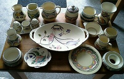 Honiton Pottery.  Sixteen Old Pieces