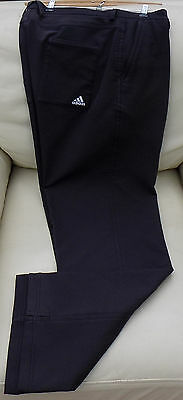 Barely Used! Mens adidas Thick Black 100% Polyester Golf Trousers Size 38W/32L