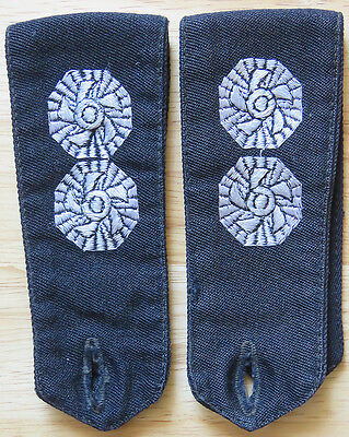 Pair of Fire Fighters Brigade Service Rank Epaulettes - Button Down - Female