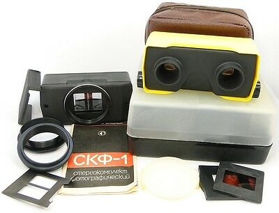 !!NEW! SKF-1 Russian Stereo Attachment Kit Taking 3D Pictures & Viewing Slides 3
