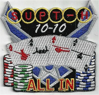 Usaf Rucker  Class 10-10  Patch     'supt-H'     'all In'                  Color