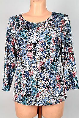 NEW WOMEN  TUNIC BLOUSE size 18/20 TOP  LONG SLEEVE  LADIES    6441