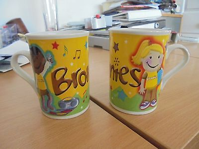 Brownie Guide  Collectors mugs x2 gorgeous