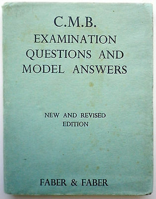 Vintage Midwife Exam Question & Answer Book-1941-H/bk D/jkt-Great Condition!!!