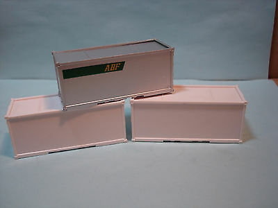 3 Custom Pup Trailer Containers Lot In 1 Abf 2 Plain White Ready For Your Logo