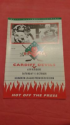 Cardiff Devils v Ayr Raiders Oct 1990 Ice Hockey Programme