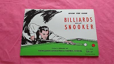 Know the Game Billiards and Snooker 1968 Edition