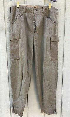 Vintage 40's WW2 Swiss Army Military Wool Field Trousers Pants 38x32 Dated: 1940