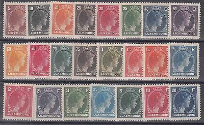 LX27 - Luxembourg  1944-46  Complete set MNH
