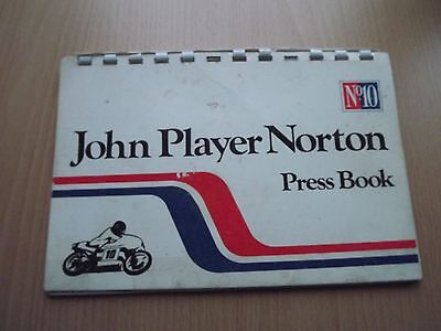John Player Norton Press Booklet