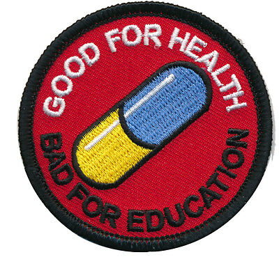 Japanese Akira anime Good for health bad education Pill HOOK PATCH