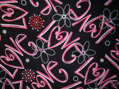 Love -Pink/Black Stethoscope Cover - NEW - Handmade - FREE S&H