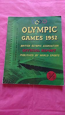World Sports Olympic Games 1952 (Helsinki) Official Report