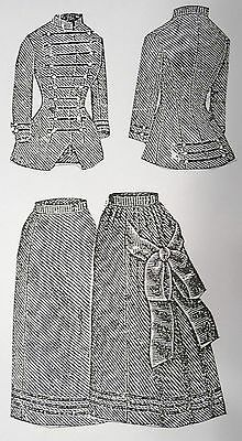 """Lady Doll Walking Skirt & Coat Pattern By Butterick 1882 For 16"""" Lady Doll"""