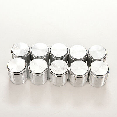 10x Aluminum Knobs Rotary Switch Potentiometer Volume Control Pointer Hole 6mm 0