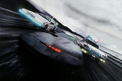 Knight Rider/Back to the Future/Ghostbusters Limited Edition Art Print No 69/500