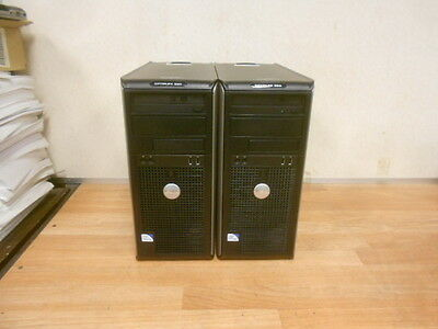 LOT OF 2 DELL OPTIPLEX 380 Core 2 Duo 2.6 GHz 160GB HD 2 GB Ram DVDRW WORKING