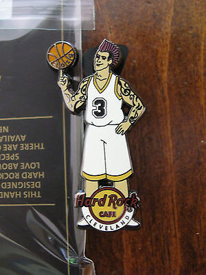 Cleveland Hard Rock Cafe pin - basketball player - LE HRC badge Closed