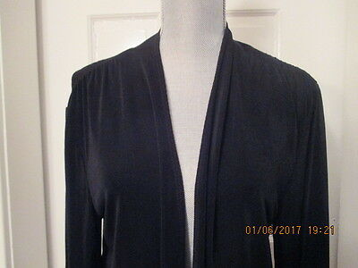 Chicos Travelers Black Open Front Cardigan Jacket  size 2  M L