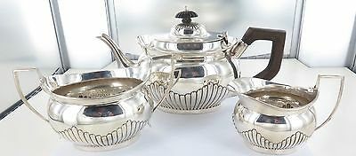 .1894 English Sterling Silver 3 Piece Tea Setting