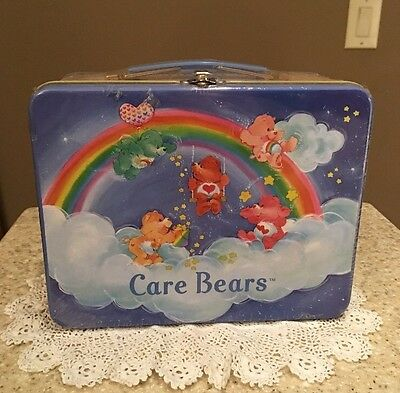 """Care Bears Tin Lunchbox """"Have a Rainbow Day"""" By RIX 2002 New Sealed SALE!!"""