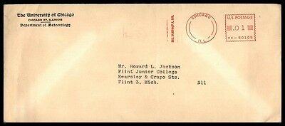 State University Meteorology Dept Chicago Il Red Cancel On Permit Paid Ad Cover