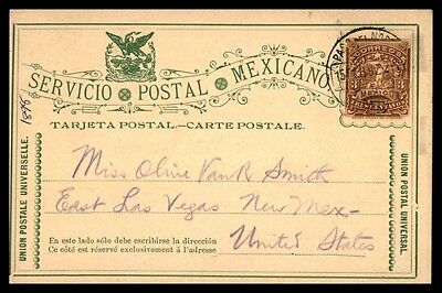 1892 Classic Mexico Postal Stationery Card Classic To Usa