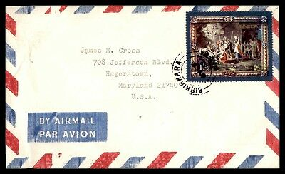 1977 Malta Single Franked Cover To Hagerstown Maryland Usa