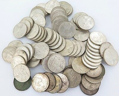 INVEST IN SILVER !!! 87 x 1966 50 CENT ROUNDS