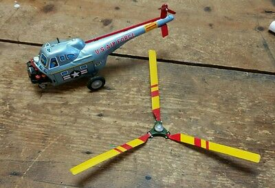 VINTAGE Tin Friction Helicopter Nomura TN Japan For Parts or Repair AS IS