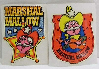 1980 Carnation Marshal Mallow Hot Cocoa Mix premium stickers