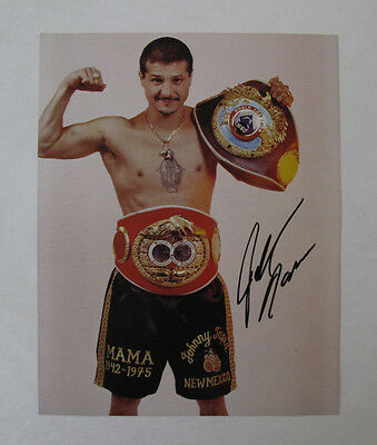 Sports Fighting Boxing New Mexico Boxer Johnny Tapia Signed Photo Autograph