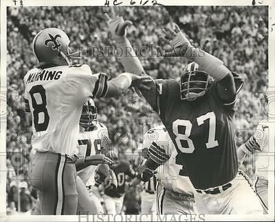 1971 Press Photo New Orleans Saints Archie Manning and Claude Humphrey