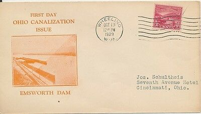 #681-6 Ohio River Canalization A.C. Roessler cachet First Day cover
