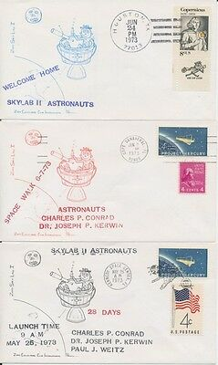 Space Skylab Astronauts set of 5 event covers
