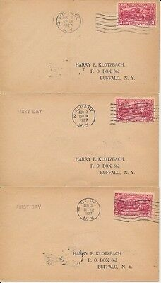 #644 Surrender at Saratoga set of 4 Klotzback cachet First Day cover with four d