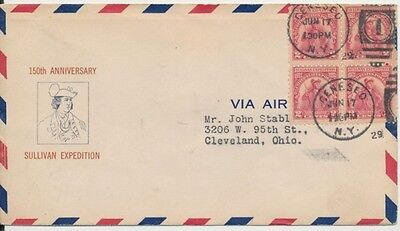 #657-9b Sullivan Expedition Milton Mauck cachet First Day cover with Geneseo NY