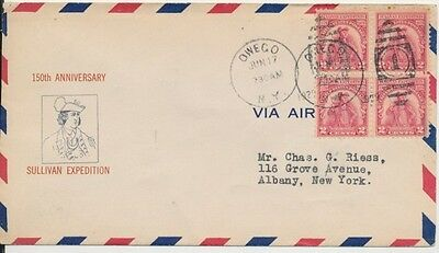 #657-9b Sullivan Expedition Milton Mauck cachet First Day cover with Owego NY ca