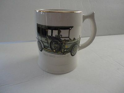Mustache Cup Mug Lord Nelson Pottery England Rolls Royce Silver Ghost 1906
