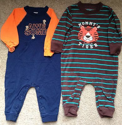 Child Of mine Carter's Baby Boy Outfit Lot 3-6 Months Mommy Tiger Monkey Fleece