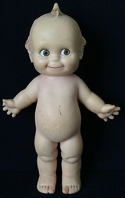 """11"""" Rubber Kewpie With Squeaker,  © Cameo, By Rose O'Neill, As Is"""