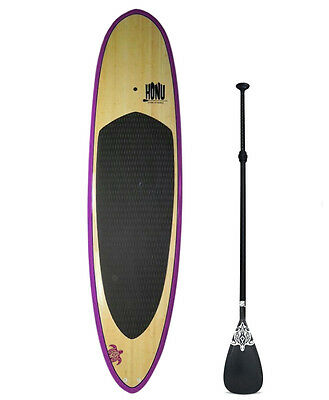 Stand up Paddle - SUP board 10'0 + Fins + Grip + Paddle : Bamboo  Finish