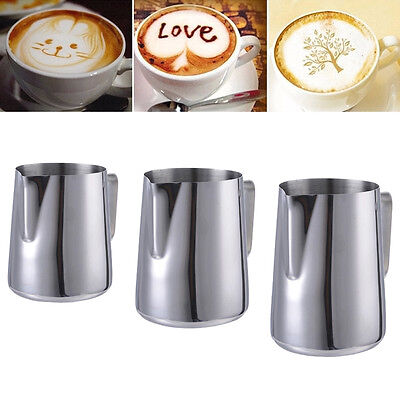 150-900ML Stainless Coffee Milk Frothing Latte Art Jug Kitchen Expresso Tool New